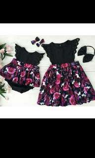 Purple Black Dress (Lil & Big Sis)