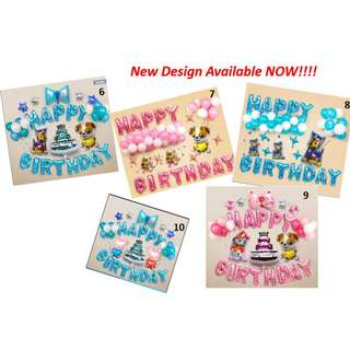 🚚 Event Kid or Baby Party Birthday Balloons Sets ( New Design )