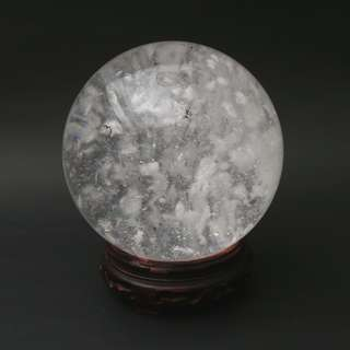 A piece of white crystal sphere
