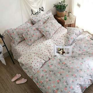 Cotton Bedding Set Ready Stock