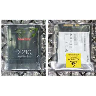 256GB SSD sandisk X210 ( new , sealed )