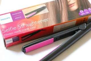 (Instock) Selfie Philips Hair Straightener