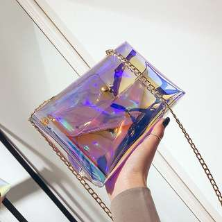 2 in 1 Holographic Sling Bag