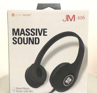 Headphone 耳機 just must 106 Massive sound