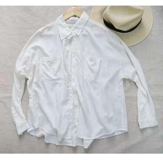 🚚 ✚Cinema Club✚米色寬鬆襯衫L號