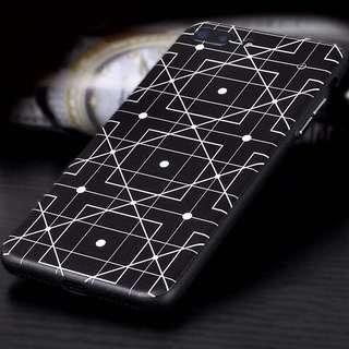 🦄 Geometric Embossed iPhone 6 6s 7 8 plus Case