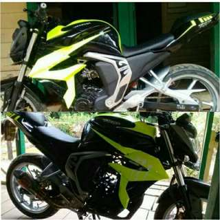 [FZN150] Cover Tank + Short Shrouds for Yamaha FZN150 (FZ16 V2): PO Till 17 JUL