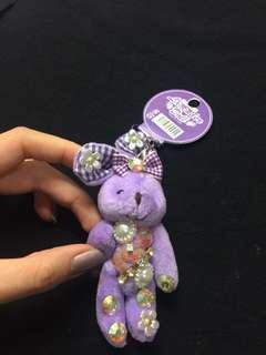🚚 薰衣草紫小兔子玩偶吊飾