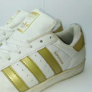 Adidas Superstar White/Gold, size40