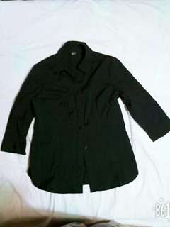 純棉黑襯衫