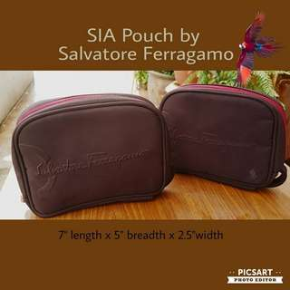 Collectable  SIA Airlines 1st Class or Business Class Pouch by Salvatore Ferragamo. No content. Pristine Condition. Each $13 or Both for $20 Clearance Offer, sms 96337309.