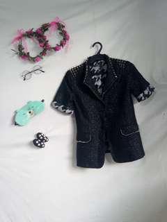 DIY Short sleeves spike coat