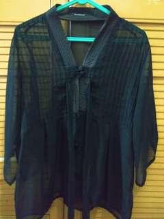 lace hitam model kimono