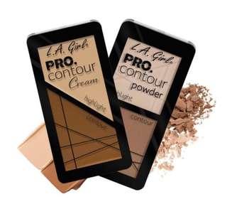 LA GIRL & LA COLOR PRO CONTOUR POWDER/CREAM