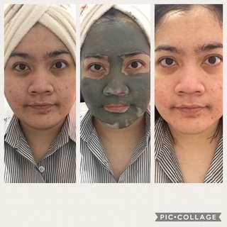 Perawatan rutin 2x seminggu dgn masker lumpur 😍😍 kulit halus cerah pori2 mengecil komedo pun ilaaangg 😄😄 EPOCH® GLACIAL MARINE MUD™ NU SKIN