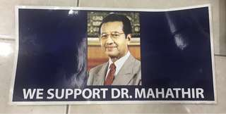 High-Quality Vintage Dr Mahathir Sticker