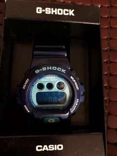 出售 CASIO G-Shock DW 6900 寶藍色 絕版 95%新 購於日雅 如圖所見