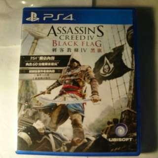 PS4 ASSASSINS CREED IV BLACK FLAG 刺客教條 ( game )