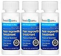 Basic Care: 3 x 60 ml bottles - Minoxidil 5% - 3 months supply
