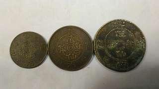 舊雲南銅仙三枚