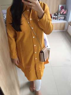 NEW - Yellow Mustard Loose Blouse
