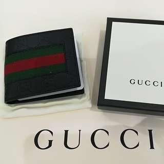 Gucci 男裝暗花包 綠黑色間