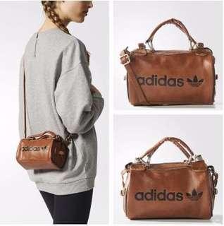 Adidas 愛迪達 咖啡色 側背包 小側背包 超級包