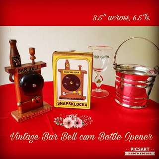 1980s Vintage  VAT 69 Bar Bell cum Bottle Opener. It is also a beautiful display for your Bar Counter. Unused & Good Condition, comes in original box. Each $10 Clearance Offer, sms 96337309.