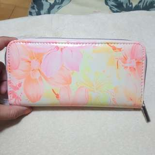 Brandnew floral long zippy wallet