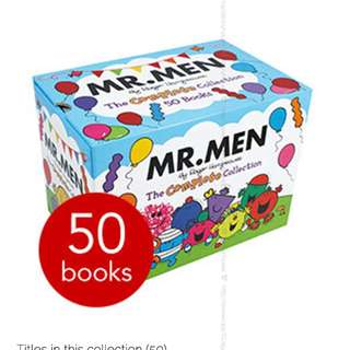 🚚 Mr. Men: The Complete Collection - 50 Books Collection Gift  Boxset ( All Paperback Books and Brand New )