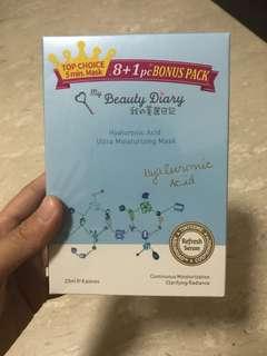 My beauty diary moisturising mask