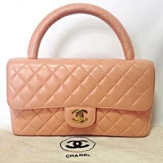 Vintage CHANEL lambskin classic 2.55 handbag 中古羊皮包