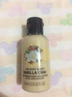 Bodyshop vanilla chai body lotion 60ml