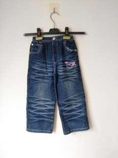 🚚 二手 女童寬口牛仔褲 尺碼13