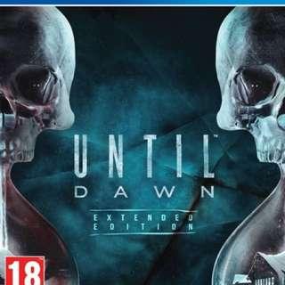 Until Dawn PS4 Games