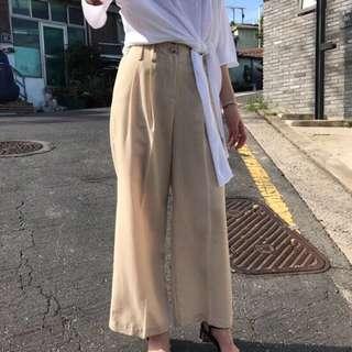 🚚 韓國連線 黑色棉麻顯瘦寬褲 samantha bowwow miyuki