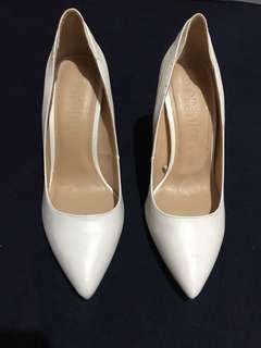 Bershka White Stilettos