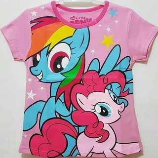 Kaos karakter anak motif 2 little ponny 1-6T