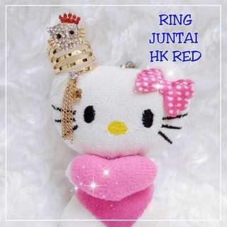 Ring tudung Hello kitty