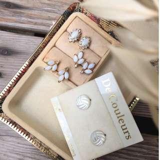 Skin&Moss Vintage復古蛋白石煥彩系列飾品珍珠母貝耳環復古耳環