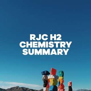 RJC H2 CHEMISTRY SUMMARY