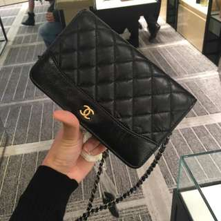 Chanel chain on wallet 流浪包