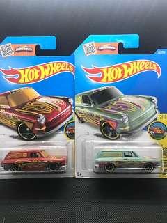 Hotwheels Volkswagen Squareback Die-cast Cars Set of 2