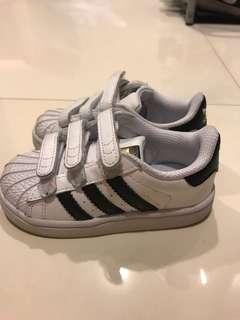 euc adidas superstar toddler sneakers shoes size eu23