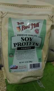 美國直運 bob's red mill 純大豆蛋白粉代餐粉 減肥粉 原味無糖 高蛋白質 396克 20日份量 送量匙  代餐 減肥瘦身豐胸 total soy soy protein