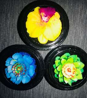 hand craved scented flower soap