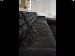 6 Seater Full Leather Sofa
