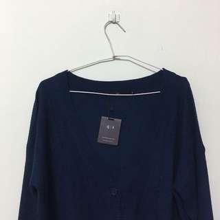 🚚 深藍針織外套