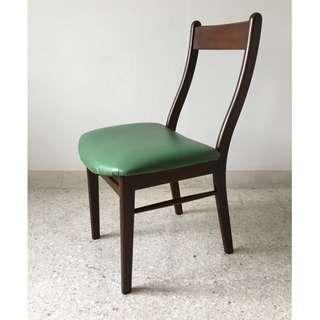 Original Vintage Mid-Century Solid Wood Dining Chairs