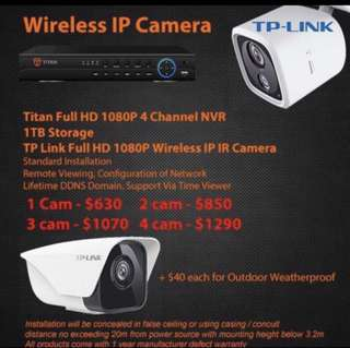 TP-Link Full HD 1080P Wireless IP Camera Package / Surveillance Camera